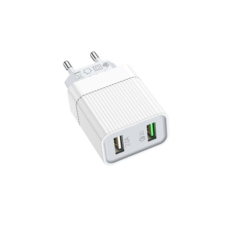 borofone ba39a speedway dual port qc3 charger eu ports