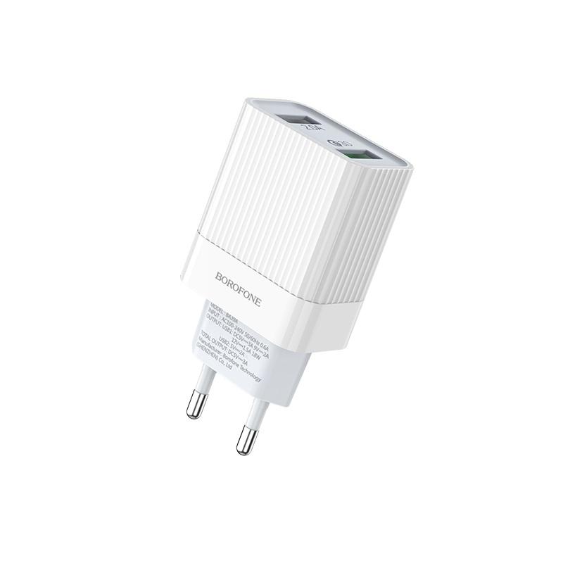 borofone ba39a speedway dual port qc3 charger eu specs