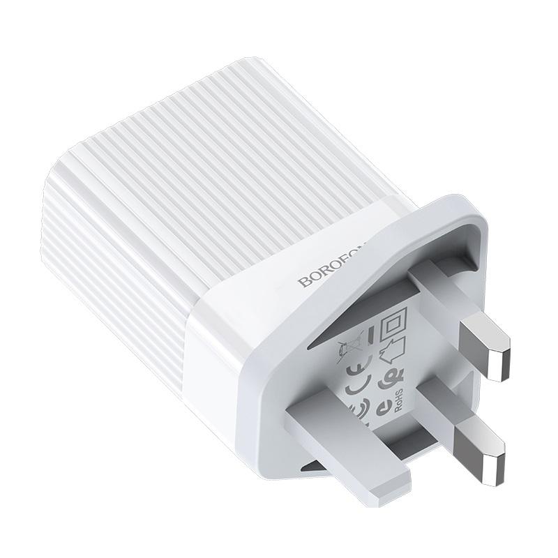 borofone ba39b speedway dual port qc3 charger uk pins