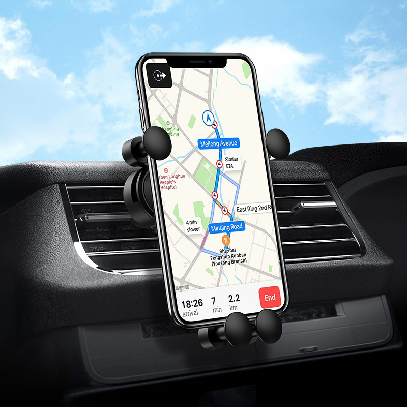 borofone bh19 eddie air outlet gravity in car holder interior