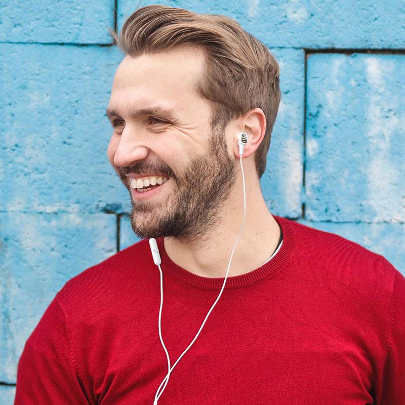 borofone bm43 remy universal earphones with mic man