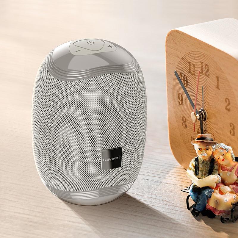 borofone br6 miraculous sports wireless speaker interior gray