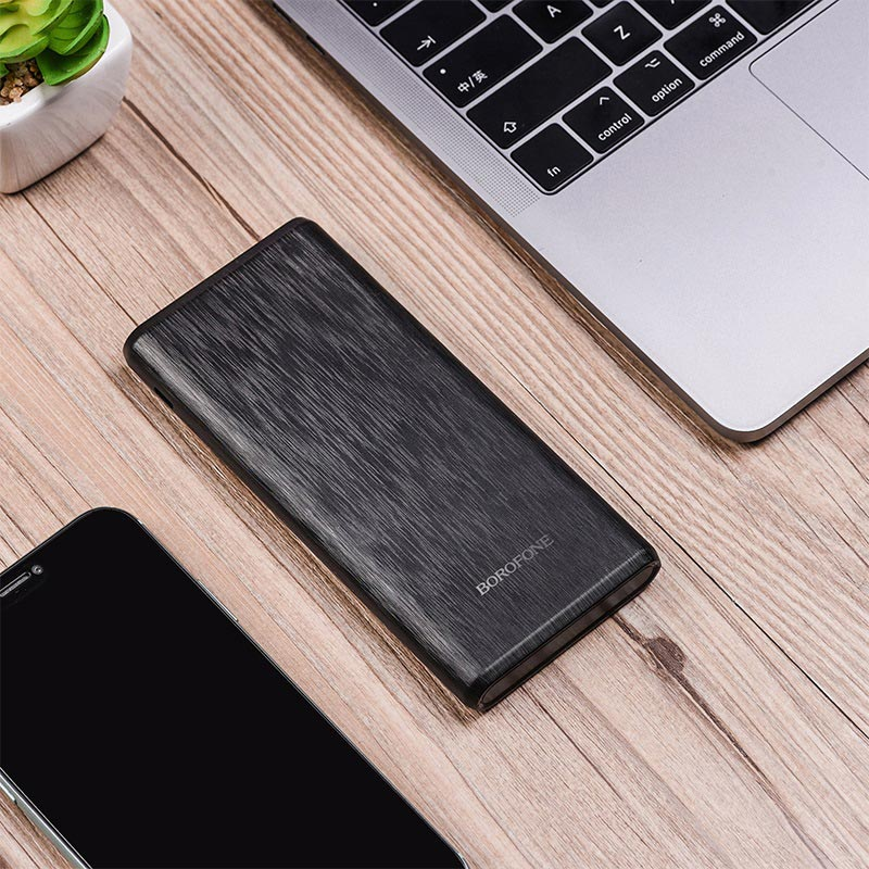 borofone bt30 dynamic pd qc30 mobile power bank 10000mah interior black