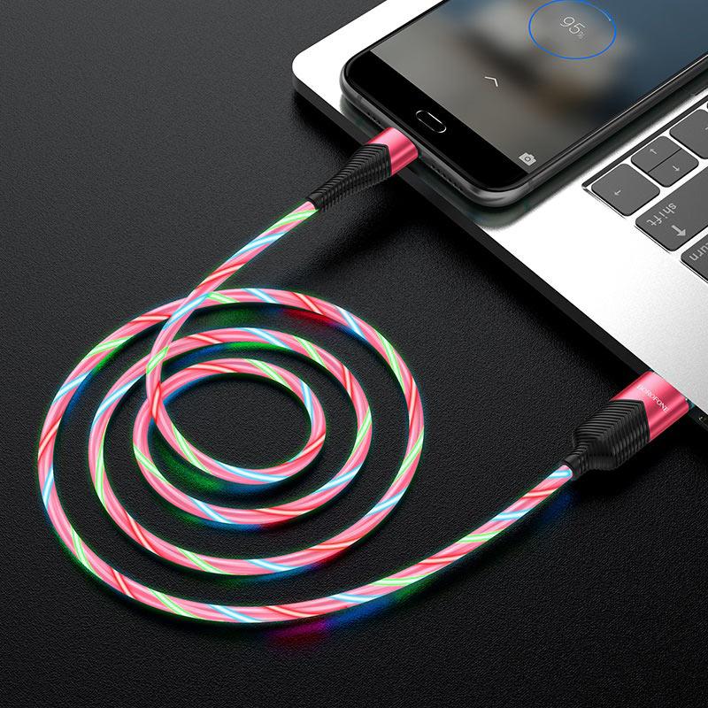 borofone bu19 streamer кабель для зарядки и передачи данных для micro usb передача красный