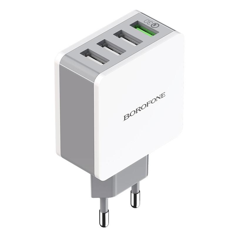 borofone ba43a bountiful four port qc3 charger eu output