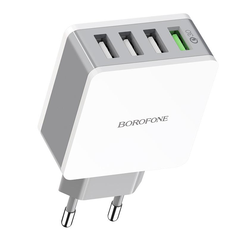 borofone ba43a bountiful four port qc3 charger eu usb