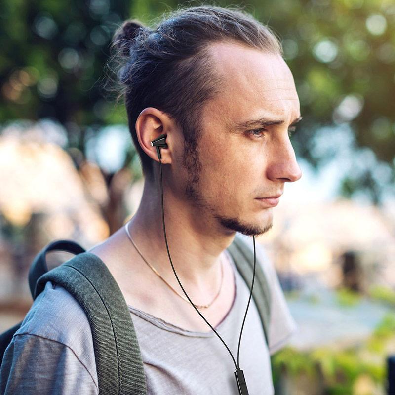borofone bm49 player universal earphones with mic man