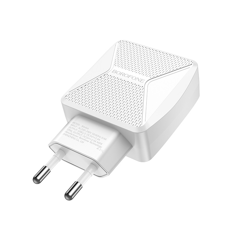 borofone ba45a max power dual port wall charger eu pins