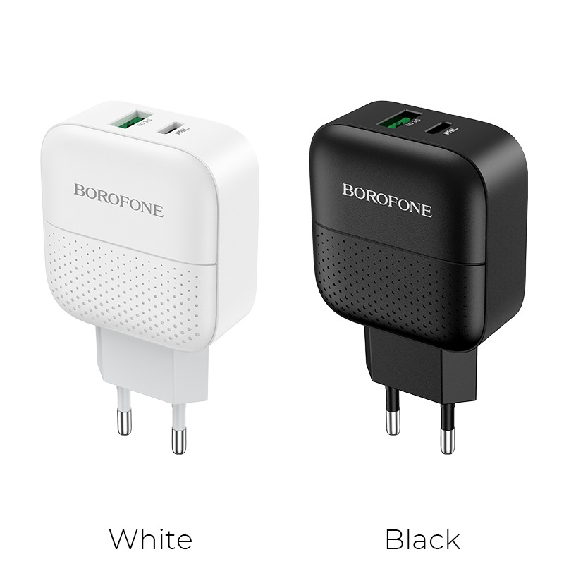 borofone ba46a premium pd qc3 charger eu colors