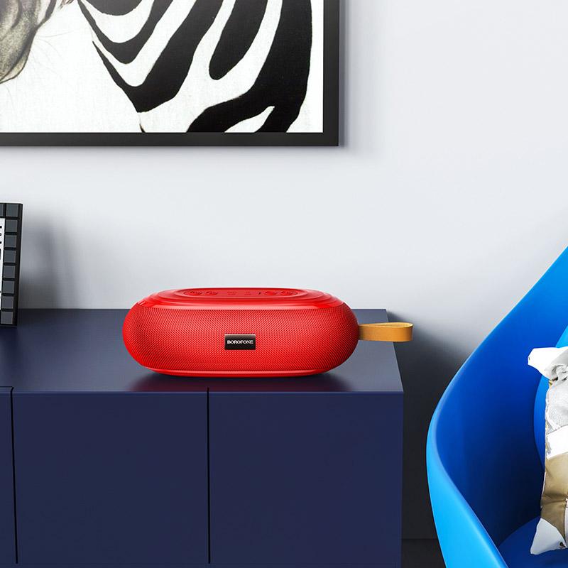 borofone br9 erudite sports wireless speaker interior red