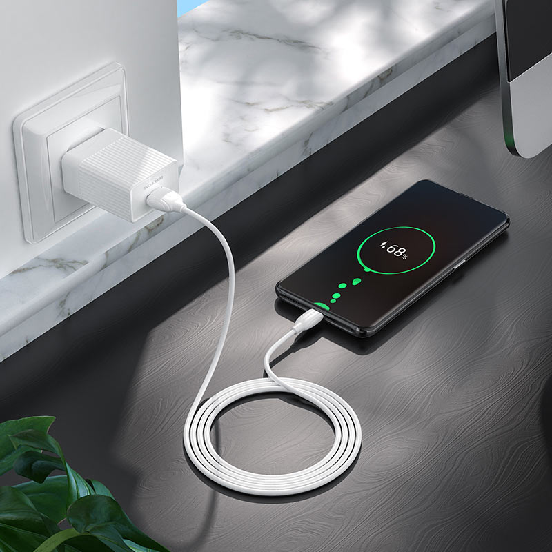 borofone ba47 mighty speed single port qc3 wall charger us charging