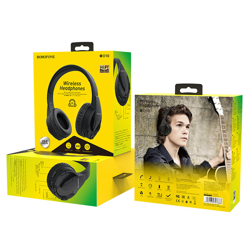 borofone bo10 precious wireless headphones package back front