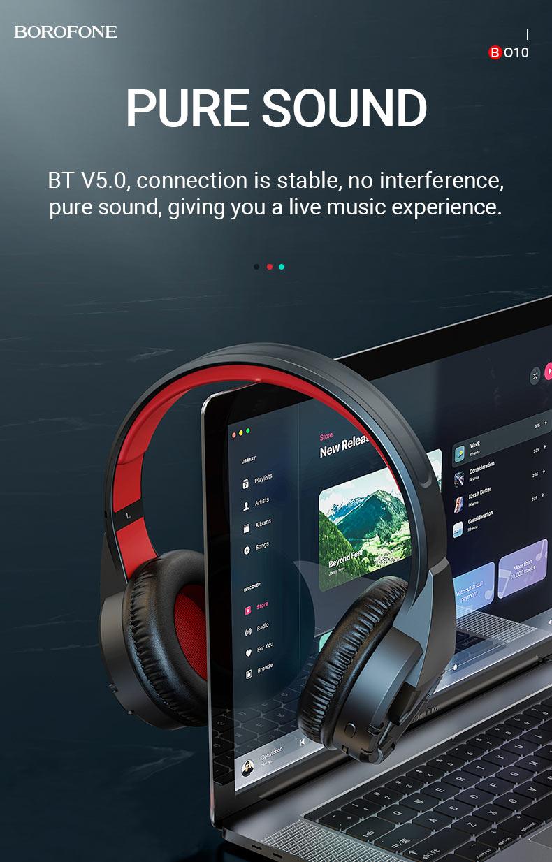 borofone news bo10 precious wireless headphones sound en