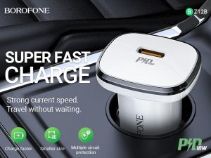BOROFONE BZ12B Lasting power in-car charger