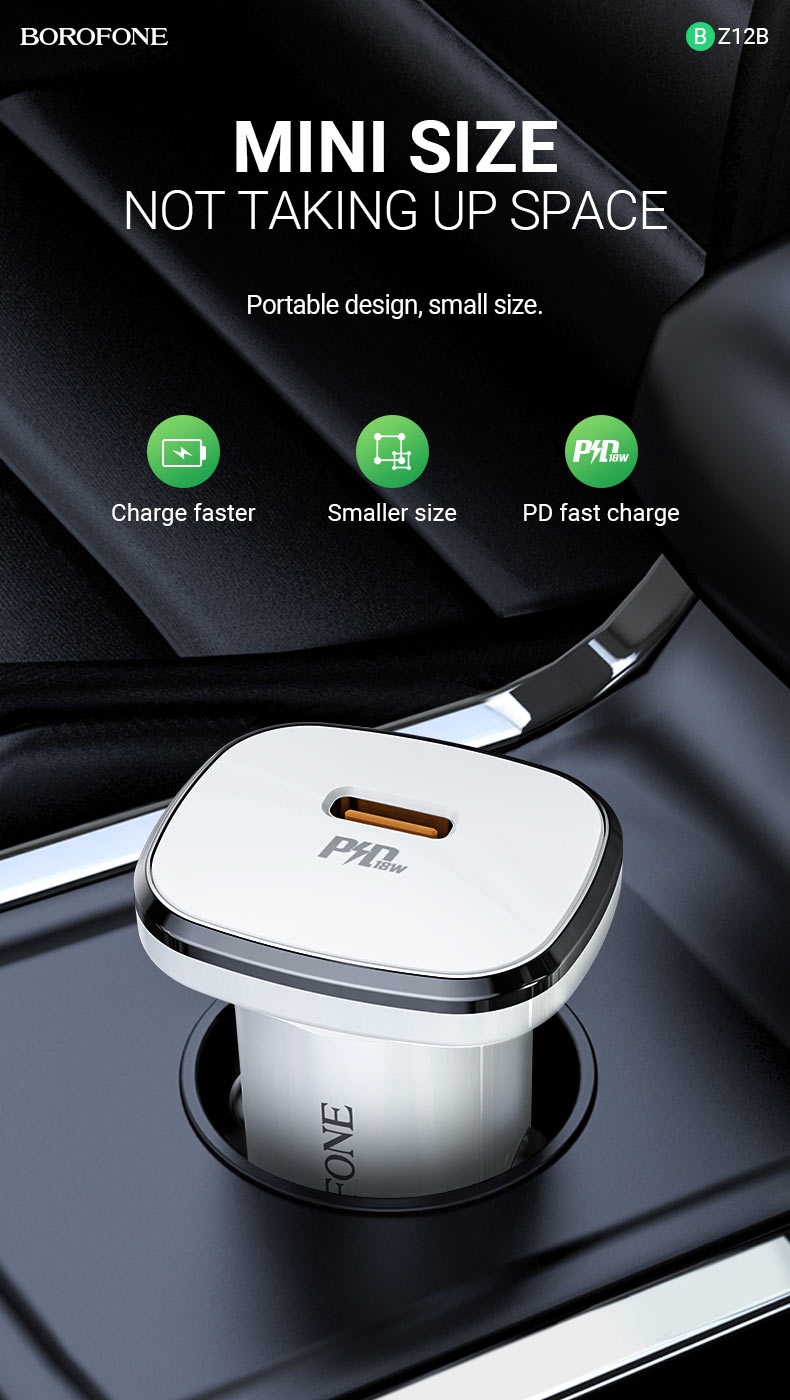 borofone news bz12b lasting power pd3 in car charger mini en
