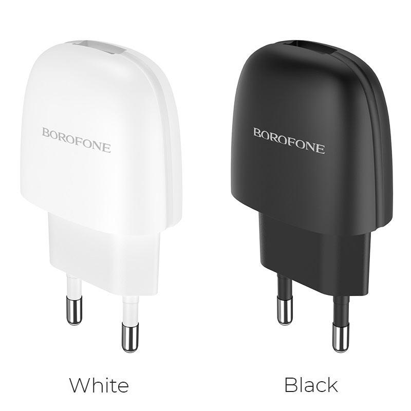 borofone ba49a vast power single port wall charger eu colors