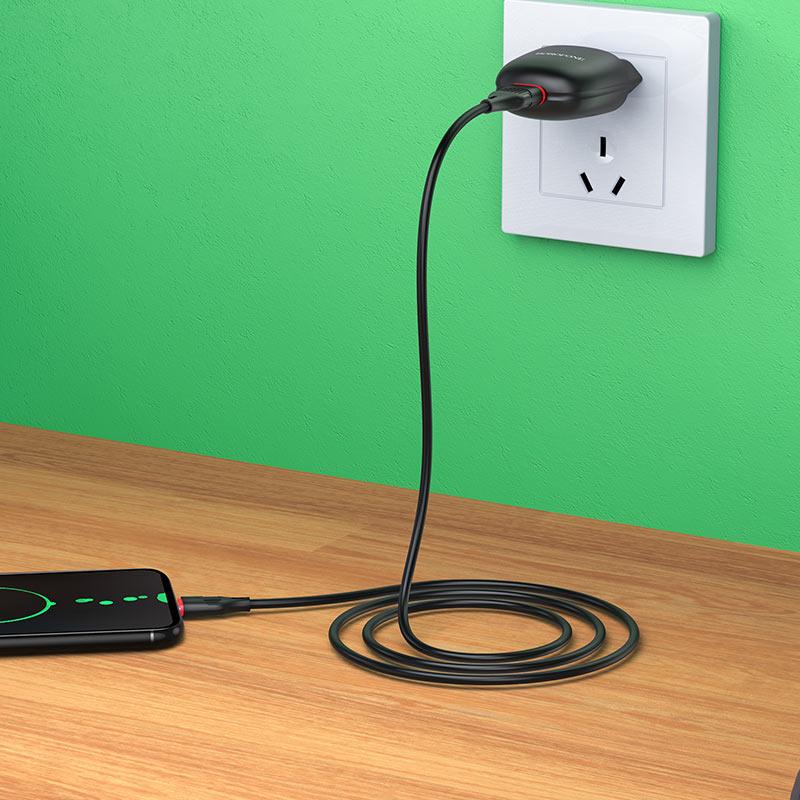 borofone ba49a vast power single port wall charger eu micro usb set overview