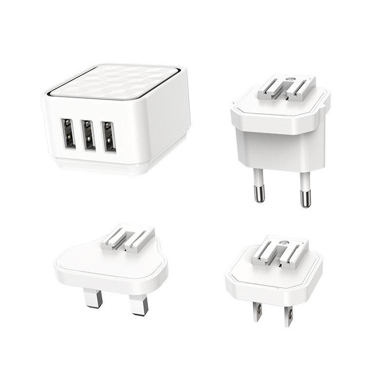 borofone ba51 easy removable pin wall charger us eu uk travel