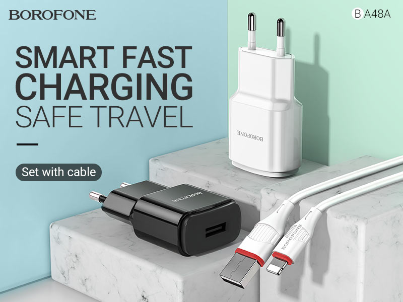 borofone news ba48a orion single port wall charger eu banner en