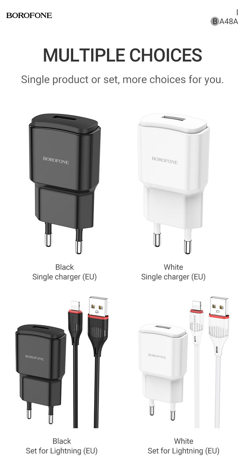 borofone news ba48a orion single port wall charger eu set1 en