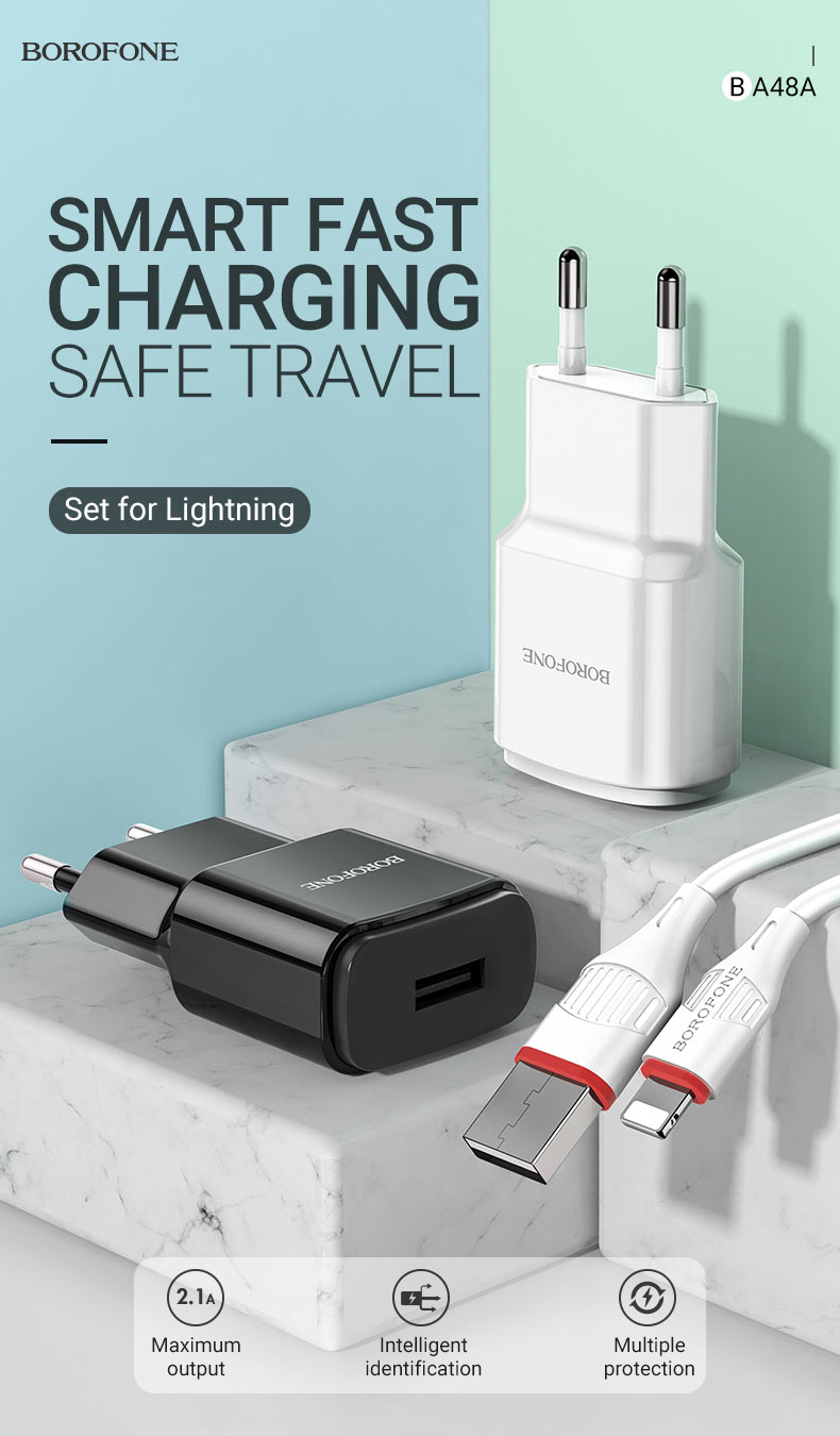 borofone news ba48a orion single port wall charger eu travel en