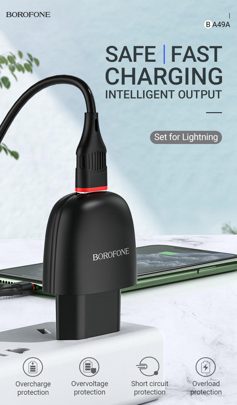 borofone news ba49a vast power single port wall charger eu safe en