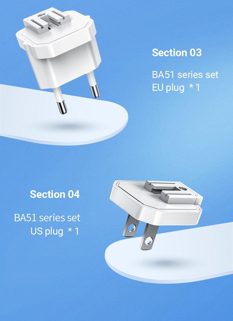 borofone news ba51 easy removable pin wall charger us eu uk 2 en