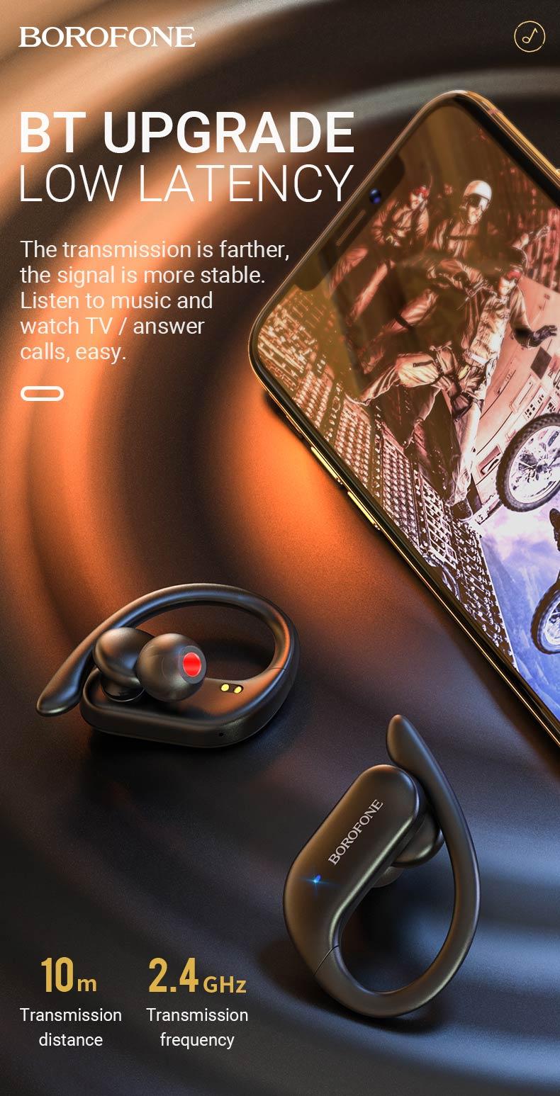 borofone news be33 rhyme tws wireless headset low latency en
