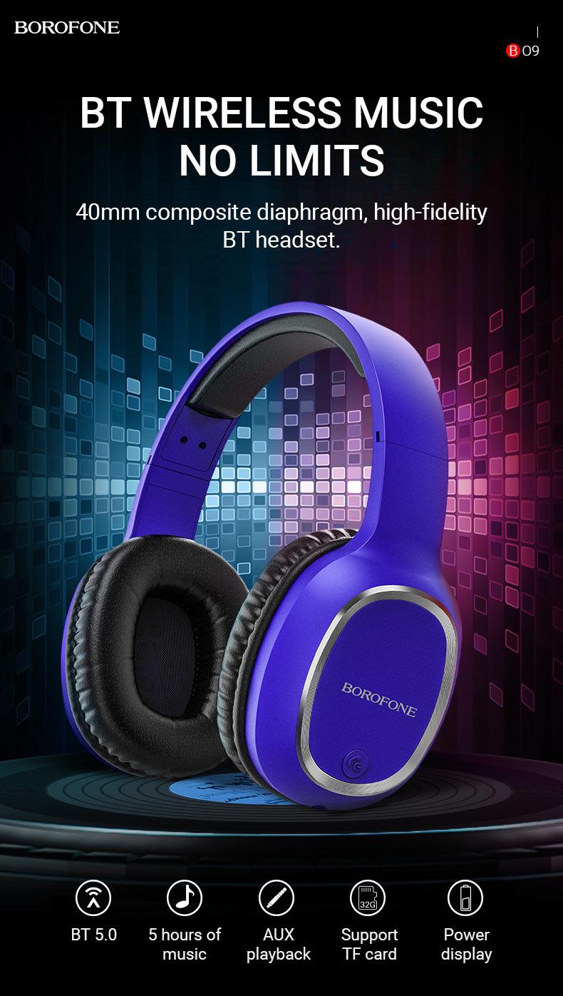 borofone news bo9 pearl wireless headphones no limits en