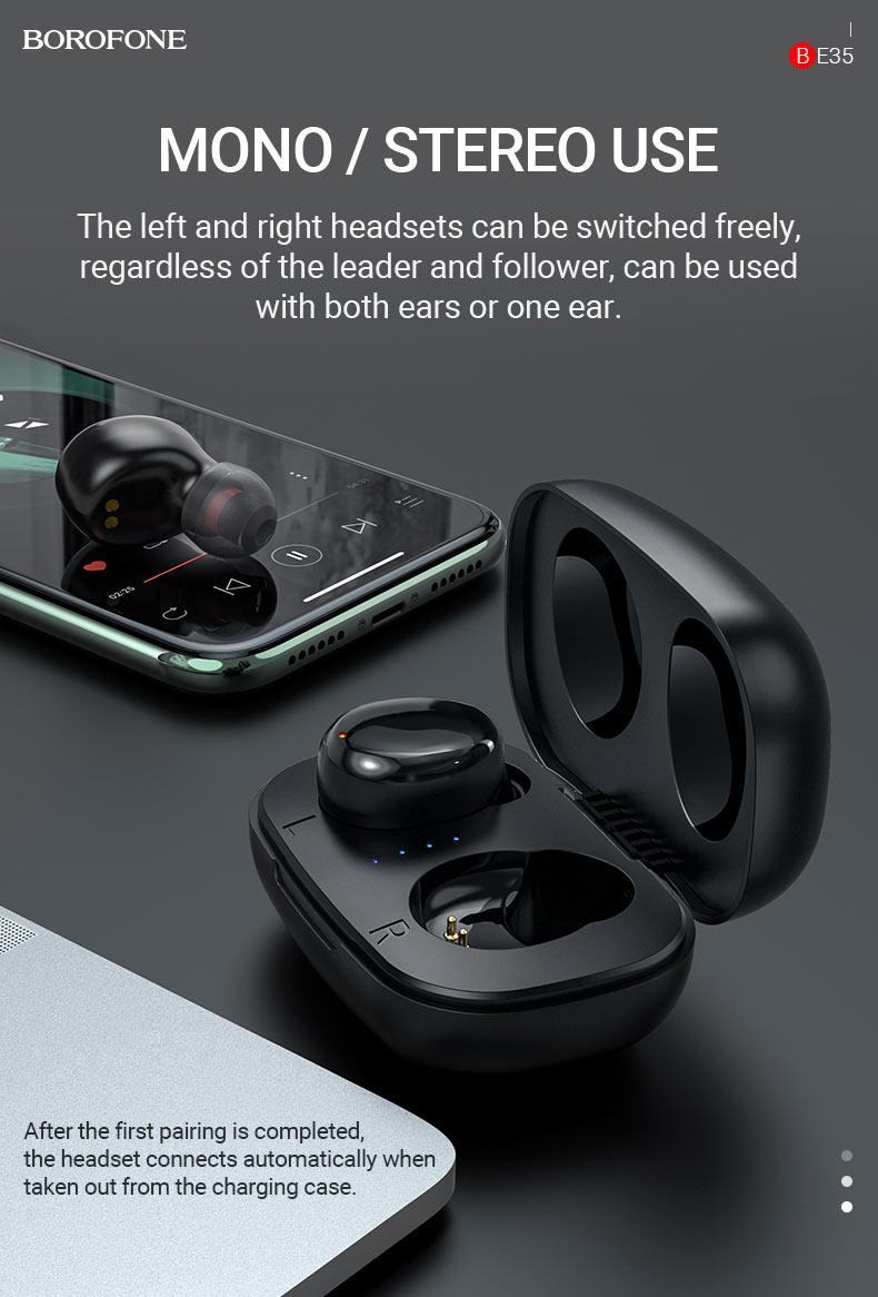 borofone news be35 agreeable voice tws headset mono stereo en