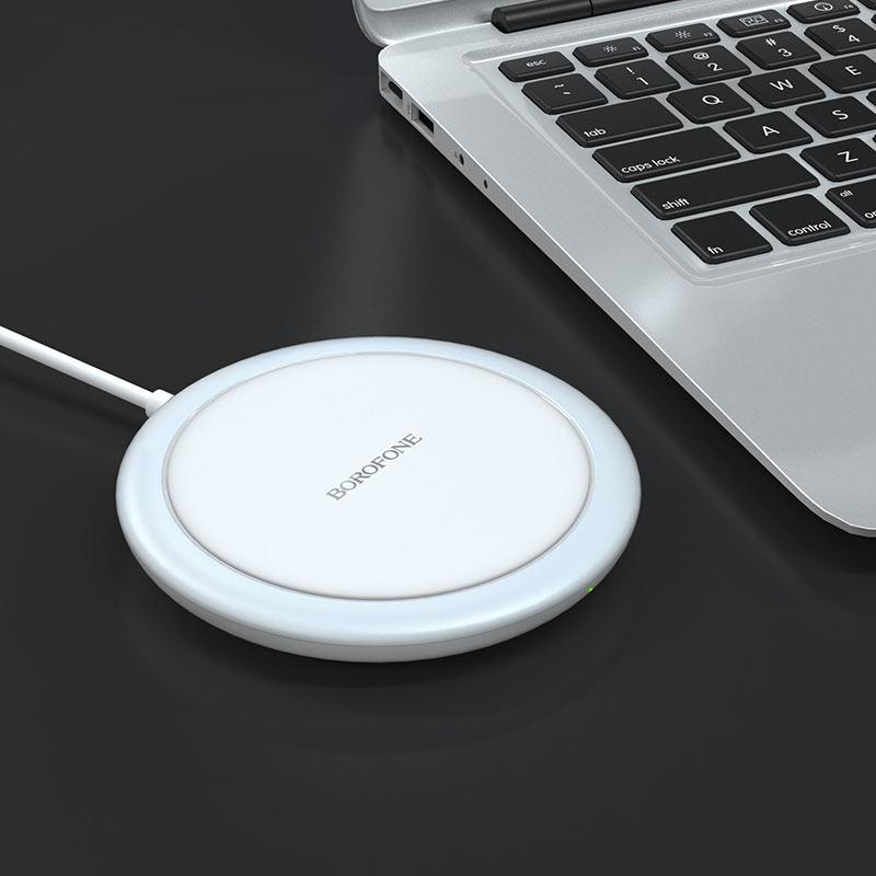 borofone bq6 boon 15w wireless fast charger mini