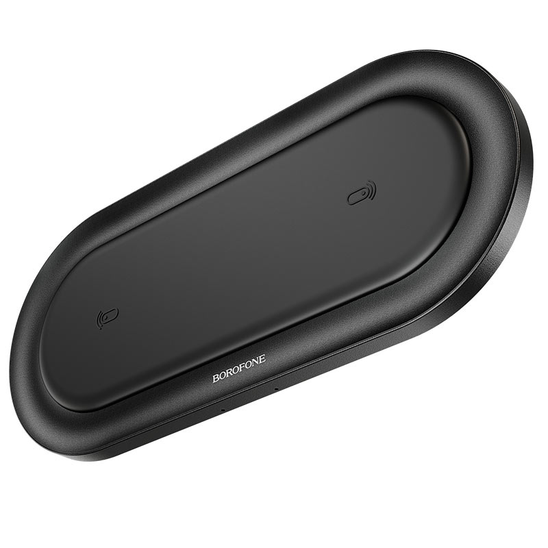 borofone bq7 prominent dual 10w wireless fast charger