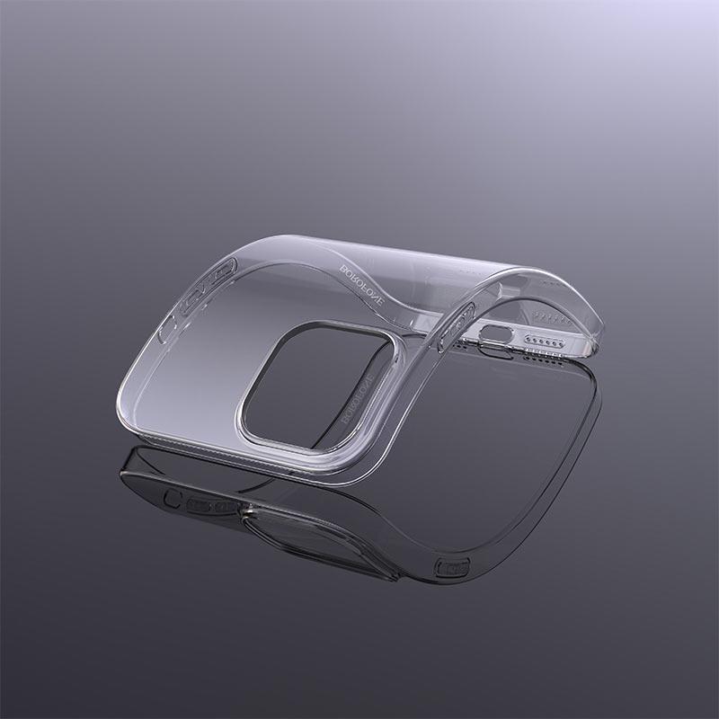 borofone ice series bi4 phone case for iphone 12 5.4 6.1 flexible