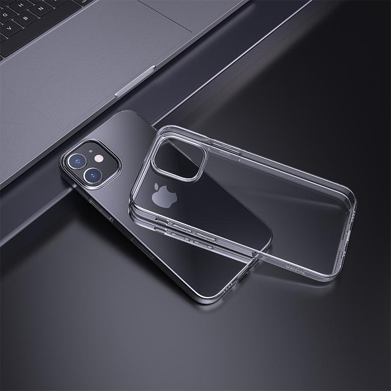 borofone ice series bi4 phone case for iphone 12 5.4 6.1 interior transparent