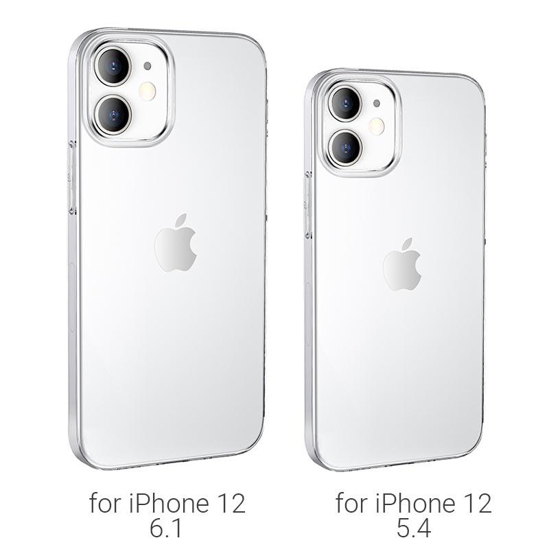 borofone ice series bi4 phone case for iphone 12 5.4 6.1 models