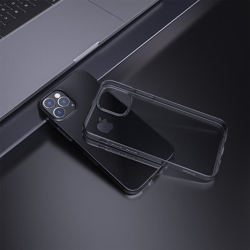 borofone ice series bi4 phone case for iphone 12 6.1pro 6.7 interior black