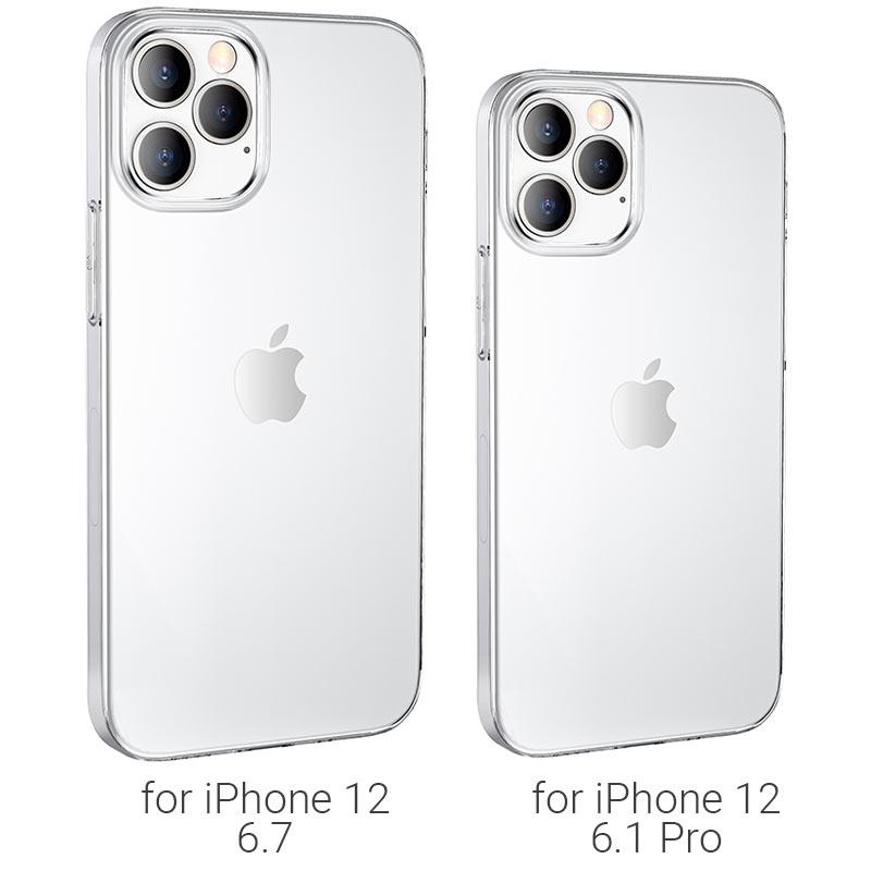 borofone ice series bi4 phone case for iphone 12 6.1pro 6.7 models