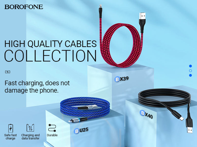 borofone news hot sale cables collection banner en