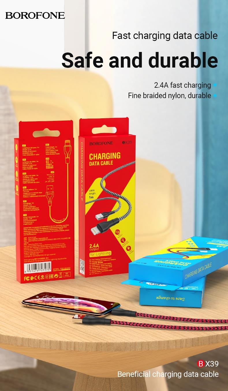 borofone news hot sale cables collection bx39 en