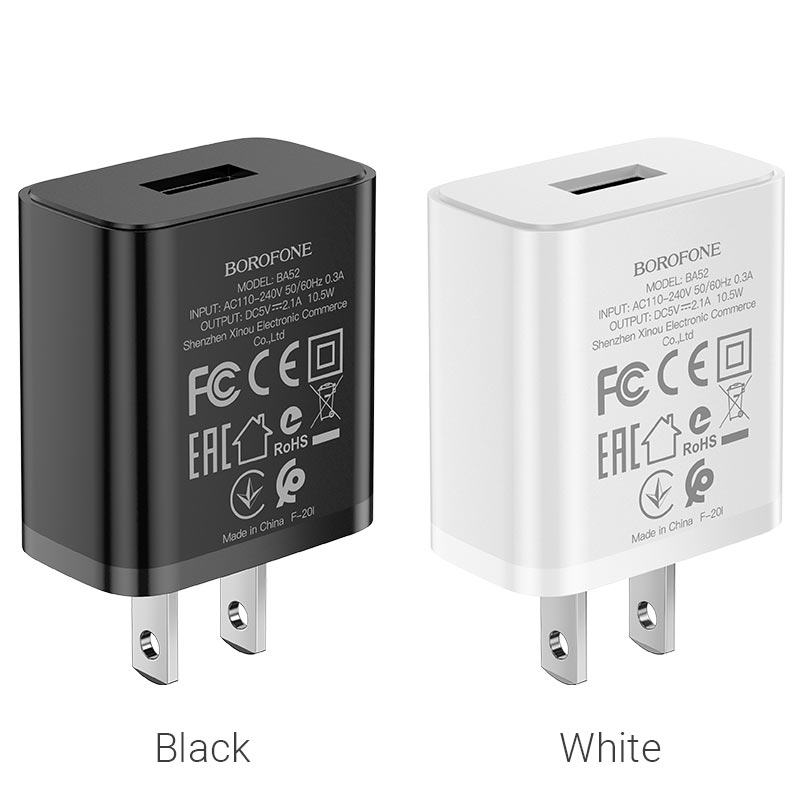 borofone ba52 gamble single port wall charger us plug colors
