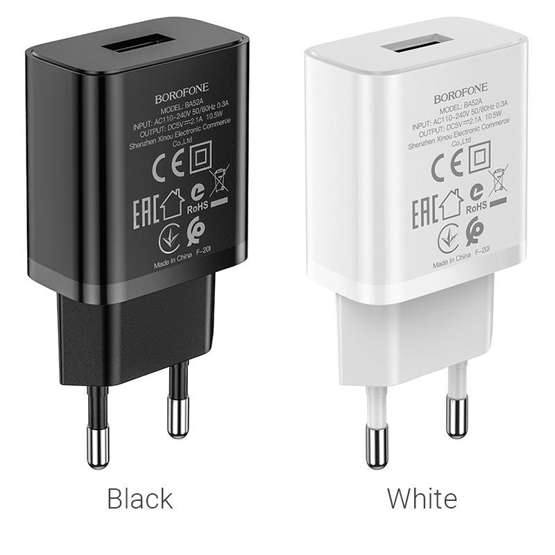 borofone ba52a gamble single port wall charger eu plug colors
