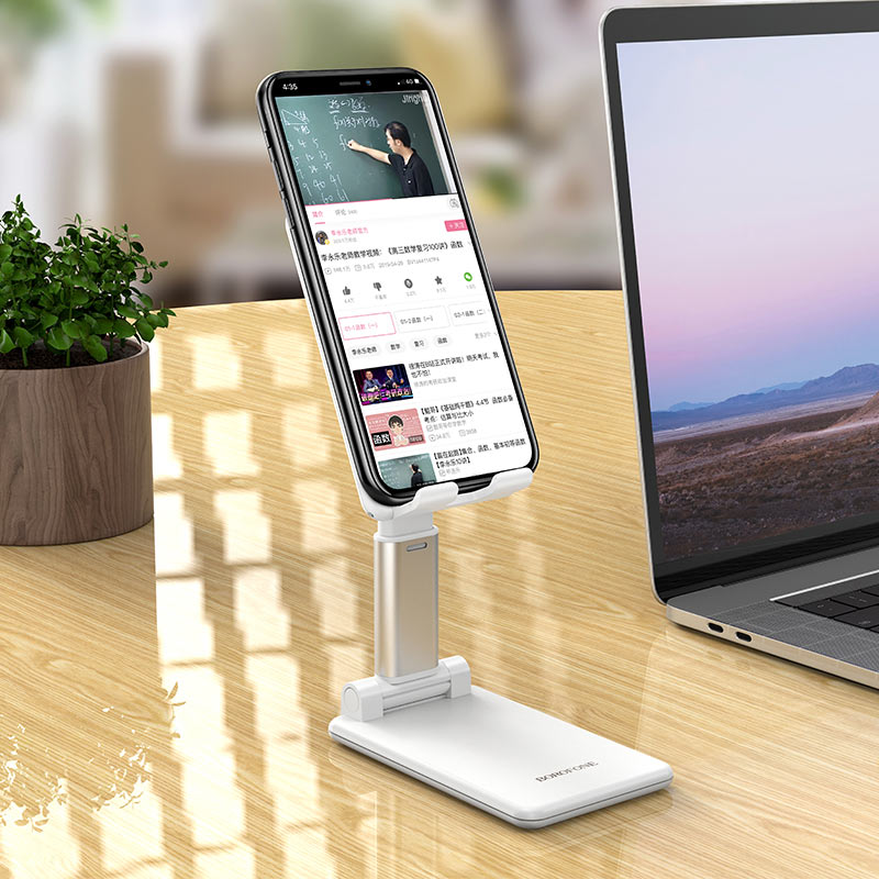 borofone bh33 praised mobile phone folding desktop stand vertically