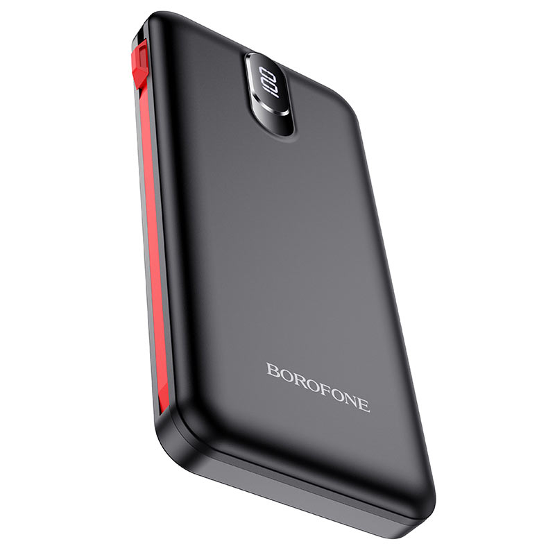 borofone bj2 buena power bank with cable 10000mah front
