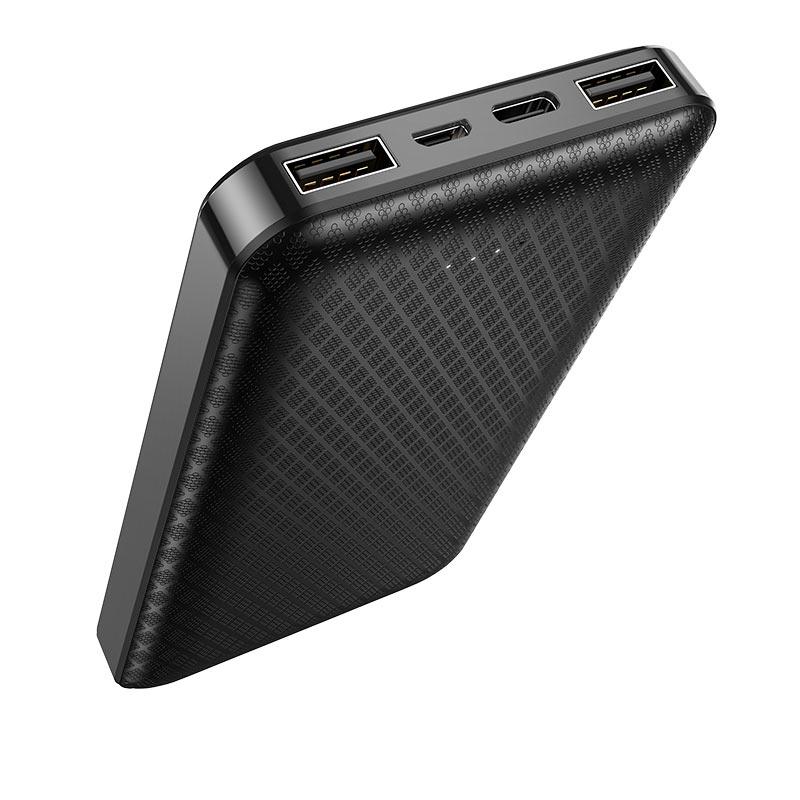 borofone bj3 minimalist портативный аккумулятор 10000mah порты