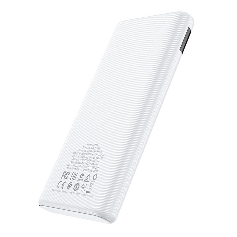 borofone bt35 smart force digital display power bank 10000mah back
