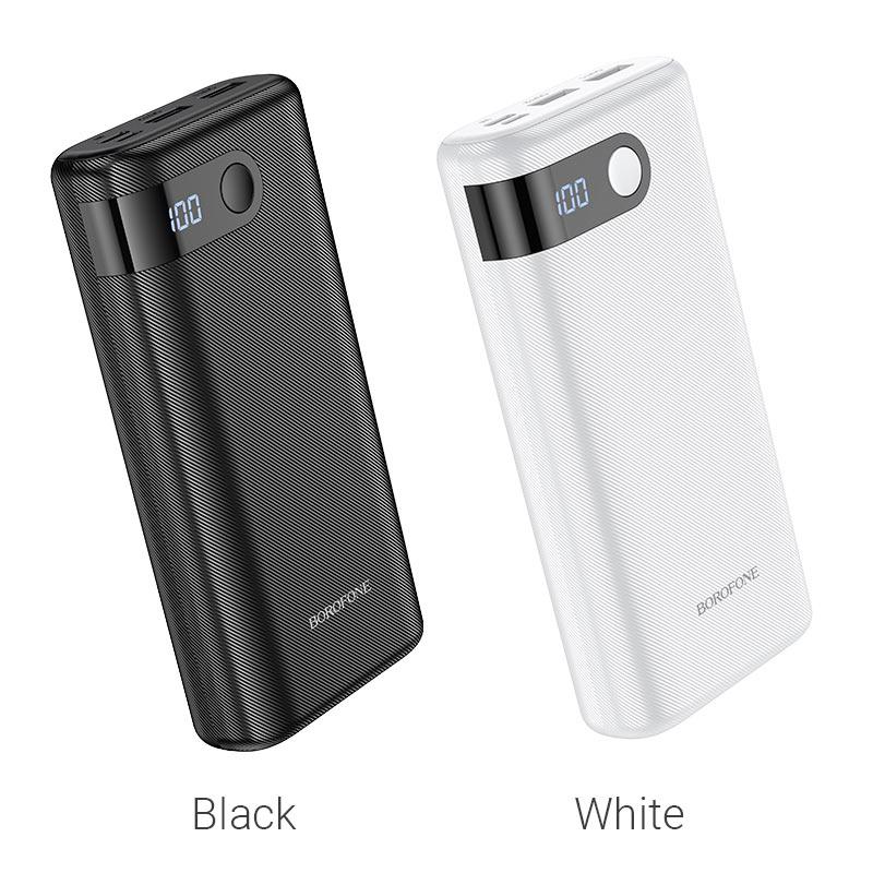 borofone bt35a smart force портативный аккумулятор с дисплеем 20000mah цветы