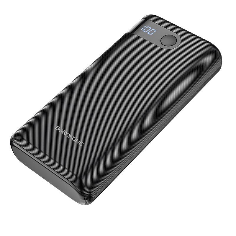 borofone bt35a smart force портативный аккумулятор с дисплеем 20000mah спереди
