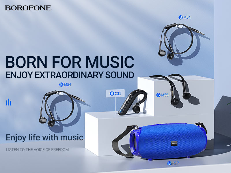 borofone news audio products collection banner en