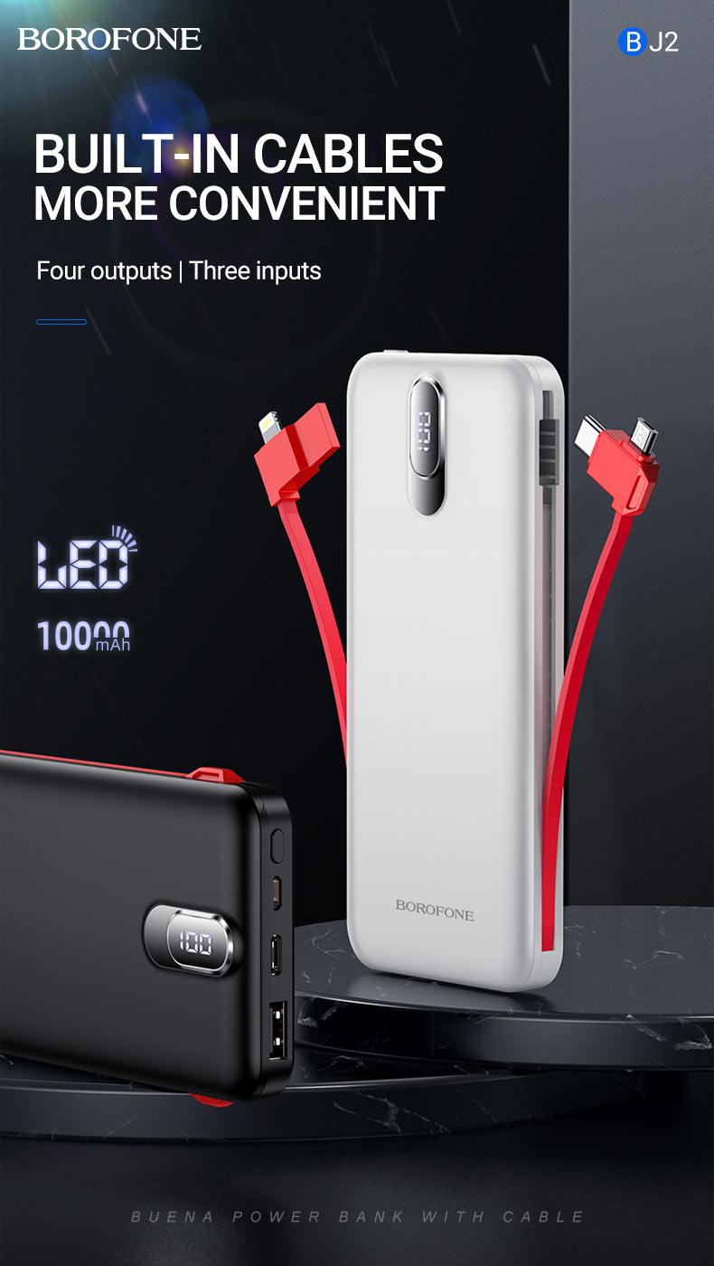borofone news bj2 power bank collection cables en