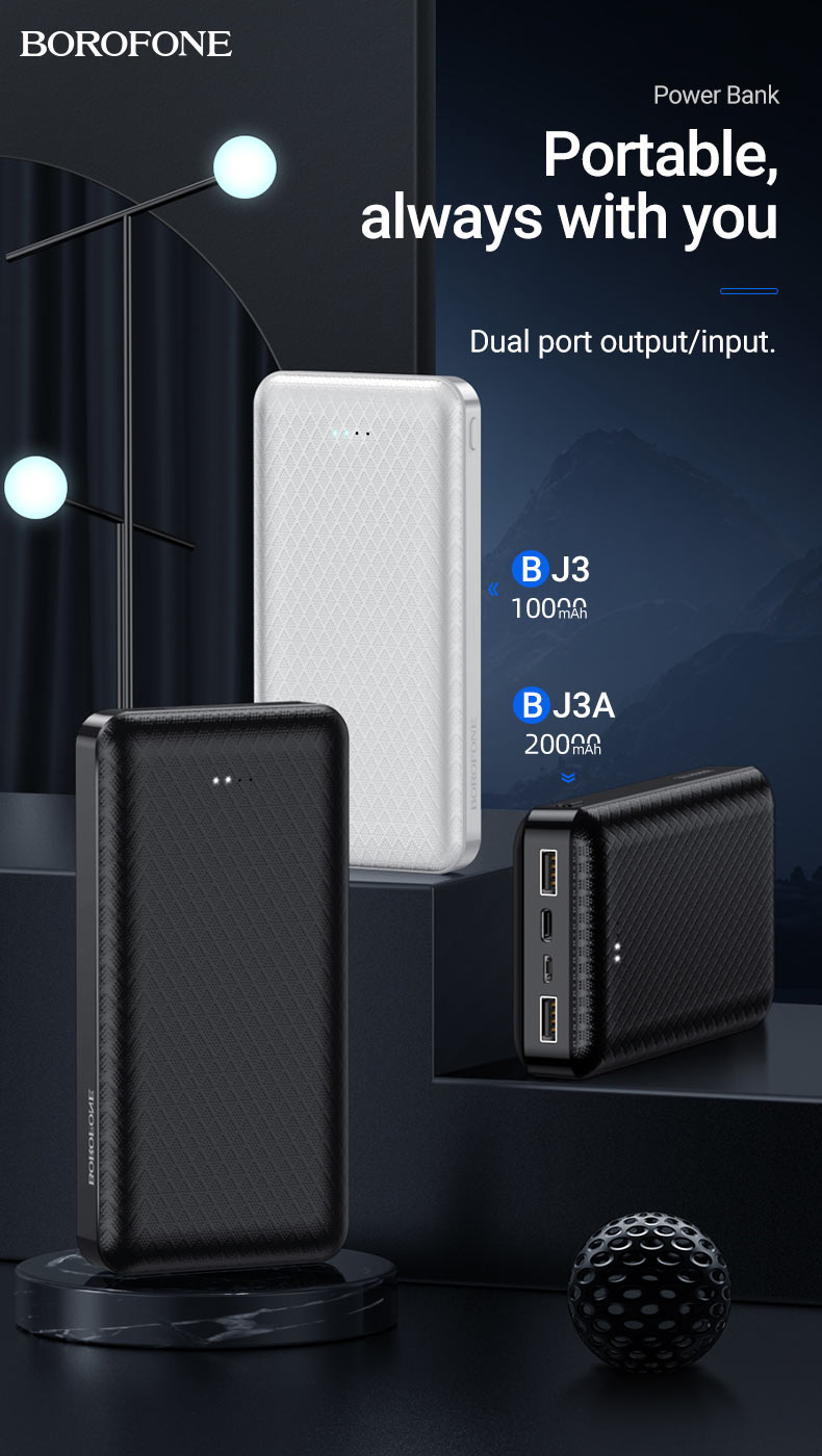 borofone news bj3 bj3a power bank collection portable en